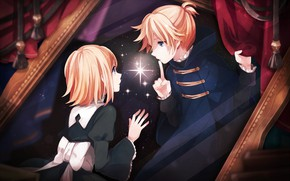 Picture night, anime, art, Vocaloid, Vocaloid, characters, the curtain