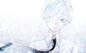 Picture white, anime, art, House no Kuni