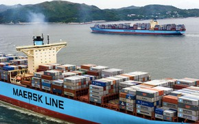 Picture Board, The ship, Line, Cargo, A container ship, Two, The add-in, Container, Maersk, Maersk Line, …