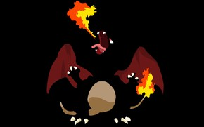 Picture mouth, flame, tail, fangs, Charizard, Charizard, wings, pokemon, fire, flame, language, pokemon, wings, tail, claws, …