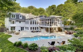Picture house, pool, mansion