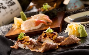 Picture algae, meat, figure, sauce