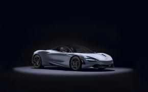 Picture McLaren, supercar, black background, Coupe, McLaren, MSO, 720S