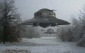 Picture UFO, Flying saucer, Vundervaffe, The Disc Belontse