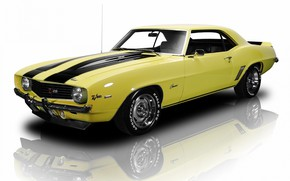 Picture 1969, Yellow, Chevrolet Camaro, Muscle car, Z28