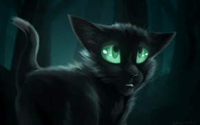 Picture Cats-Warriors, Burnt, Cats-Warriors, by Speedienth, Ravenpaw