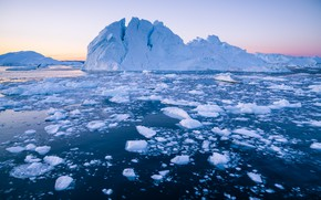 Picture ice, winter, sea, the sky, water, snow, landscape, nature, blue, ice, glacier, iceberg, ice, top, …