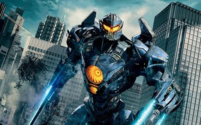 Picture the city, weapons, robot, Pacific rim, Pacific Rim: Uprising