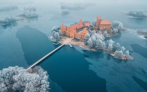 Wallpaper Trakai, Lithuania, Island Castle
