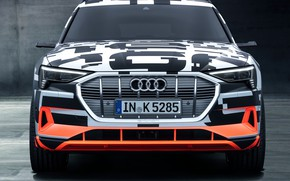 Picture Audi, Prototype, front view, 2018, electric, E-Tron