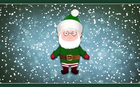 Picture Winter, Minimalism, Snow, New Year, Christmas, Snowflakes, Background, Holiday, Elf, Mood, Grandpa, Grandfather