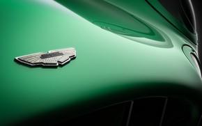 Picture Aston Martin, Auto, Retro, Machine, Logo, Background, Logo, Art, Green, Rendering, Andreas Ezelius, DBR1, Aston …