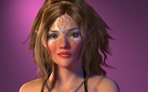 Picture look, girl, portrait, makeup, elf