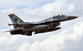 Picture fighter, F-16, the fourth generation, easy, multifunction
