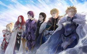 Picture the sky, anime, art, characters, Fate / Grand Order