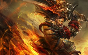 Picture champion, art. the game, robin-ruan, league of legends Tryndamere