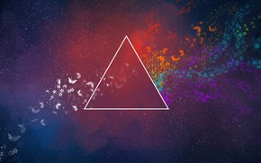 Picture Music, Space, Triangle, Pink Floyd, Art, Prism, Rock, Dark side of the moon, Pink Floyd, …