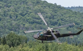 Wallpaper Bell CH-146, blades, helicopter, Griffon