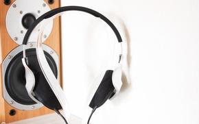 Picture house, minimalism, headphones, column, speaker, Yamaha, minimalism, workplace, headphones, stand, Yamaha, home, workplace, column, speaker, …