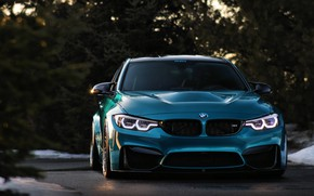 Picture BMW, Blue, Angry, F80, Sight, LED
