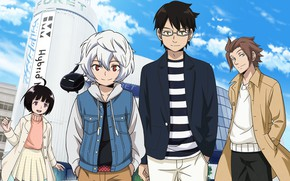Picture girl, anime, art, guys, World Trigger, The pulse of the world
