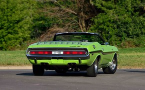 Picture Dodge, Challenger, Classic, Green, 1970, Old, Muscle Car