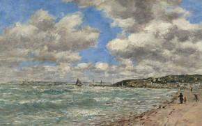 Picture landscape, picture, Eugene Boudin, Eugene Boudin, Beach Of Deauville