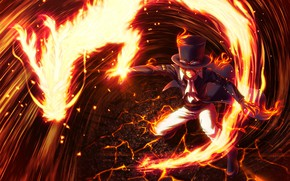 Picture fire, flame, game, One Piece, pirate, hat, power, fight, dragon, powerful, spark, akuma from mi, …