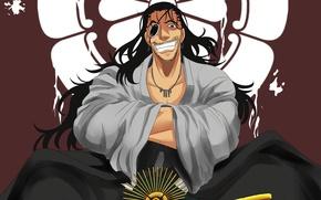 Picture blood, smile, anime, man, samurai, asian, japanese, kimono, bushido, drifter, Drifters