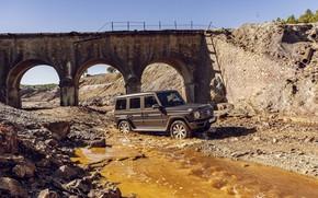 Picture bridge, stream, Mercedes-Benz, SUV, 2018, G-Class