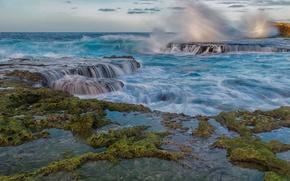 Picture sea, wave, the ocean, surf, Puerto Rico, The Caribbean sea, Caribbean Sea, Puerto Rico