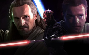 Picture Obi-Wan Kenobi, Movie, Qui-Gon Jinn, Star wars. Episode I: the phantom menace, Star Wars Episode ...