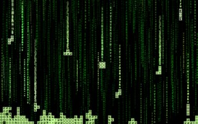 Picture green, matrix, tetris
