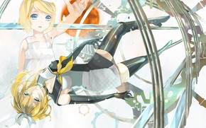 Picture girl, girl, Vocaloid, Vocaloid, Kagamine Rin