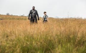 Picture grass, man, boy, Idris Elba, gunslinger, Stephen King, Roland Deschain, The Dark Tower, Tom Taylor