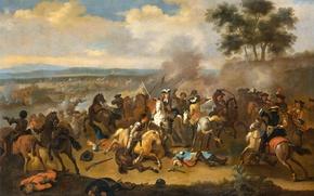 Picture picture, battle, Jan van Huchtenburg, The battle of the Boyne between James II and William …