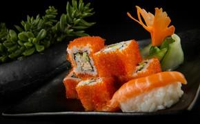 Picture Caviar, Seafood, Rolls