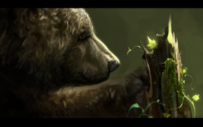 Picture tree, bear, by SalamanDra-S