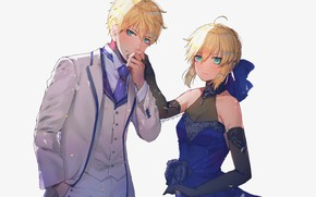 Picture girl, sword, guy, the saber, Fate / Grand Order