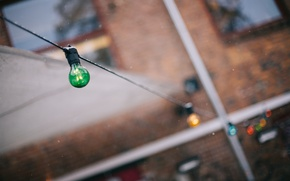 Picture winter, light bulb, snow, garland