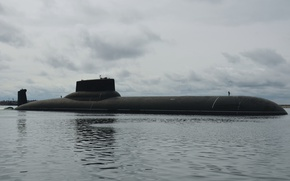 Picture underwater, cruiser, atomic, purpose, Dmitry Donskoy, strategic, the project 941