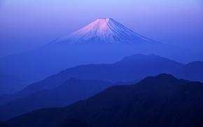 Picture the sky, the evening, morning, Japan, mount Fuji, Fuji