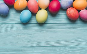 Picture eggs, rainbow, Easter, Holiday