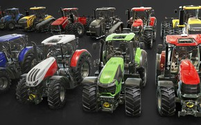 Wallpaper tractors, Vehicles for the Farming Simulator Franchise, tractor garage