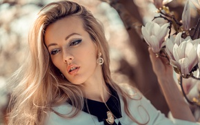 Picture face, mood, hair, makeup, Magnolia, Olya Alessandra