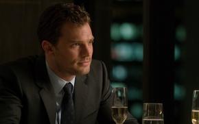 Picture cinema, man, movie, book, drink, film, tie, Jamie Dornan, Fifty Shades of Grey, Christian Grey, …