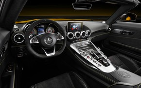 Picture Roadster, Mercedes-Benz, the wheel, salon, AMG, 2018, GT S