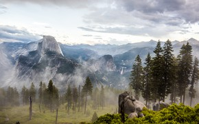Picture Clouds, Mountains, Fog, Rocks, Trees, Forest, Landscape, Valley