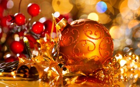 Picture toys, new year, ball, spruce, the celebration