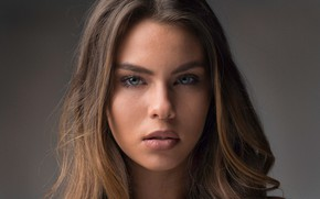 Picture look, close-up, face, background, portrait, makeup, hairstyle, brown hair, beauty, bokeh